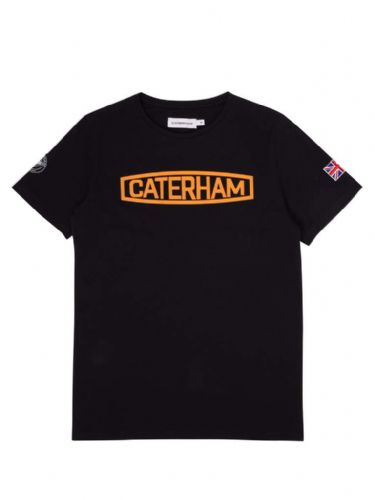 CATERHAM LOGO BLACK & ORANGE TEE SHIRT